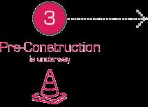3. Pre-Construction is underway.